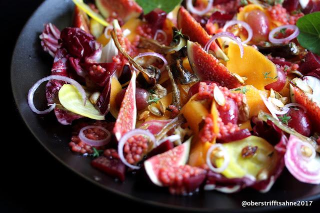 Salatteller im Herbst