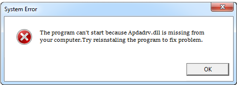 Télécharger Apdadrv.dll Fichier Gratuit Installer