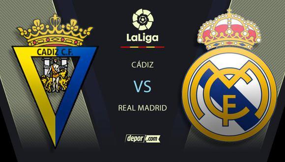 Real Madrid vs. Cádiz EN VIVO: canales de TV y todas las incidencias por LaLiga