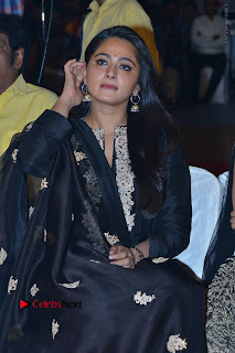 Actress Anushka Anushka Shetty Stills in Black Salwar Kameez at Om Namo Venkatesaya Audio Launch Event  0001.JPG