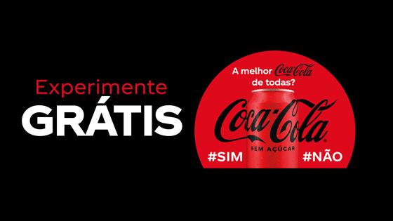 Experimente grátis Coca-Cola sem açúcar