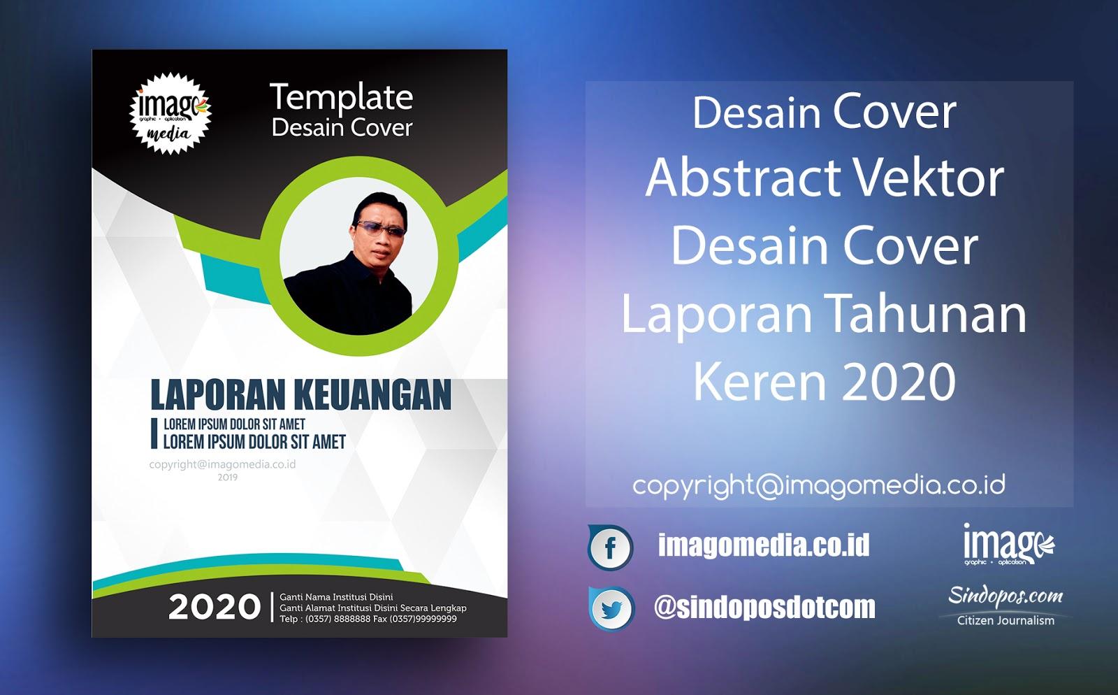 Abstract Vektor Desain Cover Laporan Tahunan Keren 2020 Imago Media Home Of Creativity