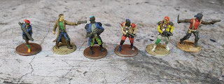 28mm punks and gang members from Warlord Games