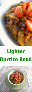 This Lighter Burrito Bowl will help you keep your New Year's Resolution!  The bold Mexican flavors will have you loving this homemade dish 1000x more than any takeout joint! - Slice of Southern