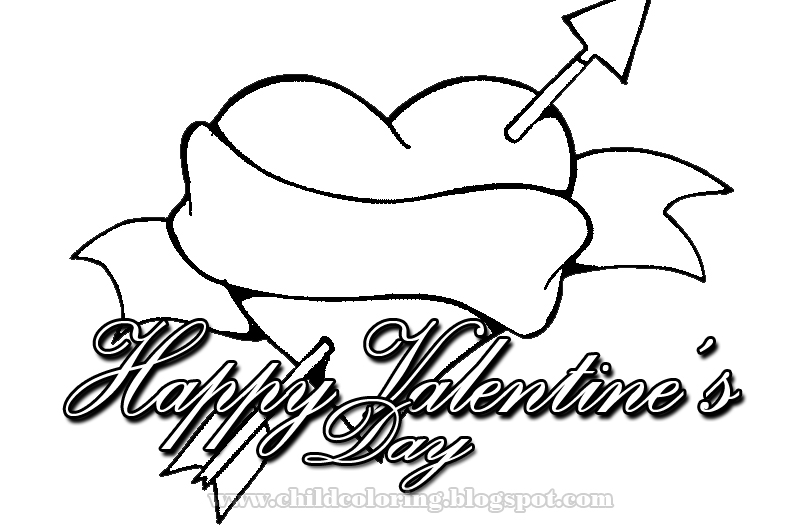 happy valintines day coloring pages - photo #2