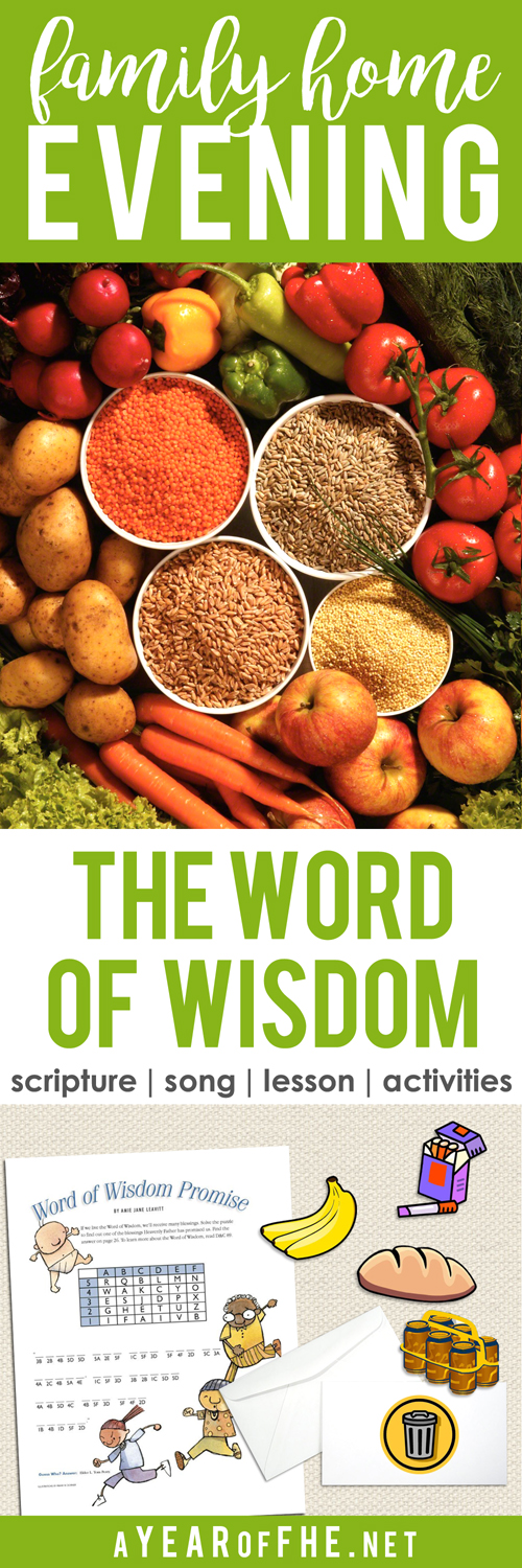 A Year Of FHE Year 01 Lesson 37 The Word Of Wisdom