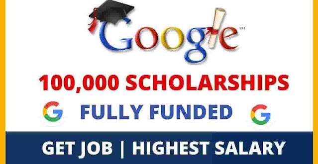 منح جوجل   100،000 منحة  الشهادات معادلة لشهادة جامعية مدتها أربع سنوات