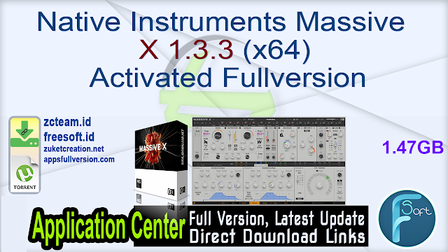 Native Instruments Massive X 1.3.3 (x64) Activated Fullversion