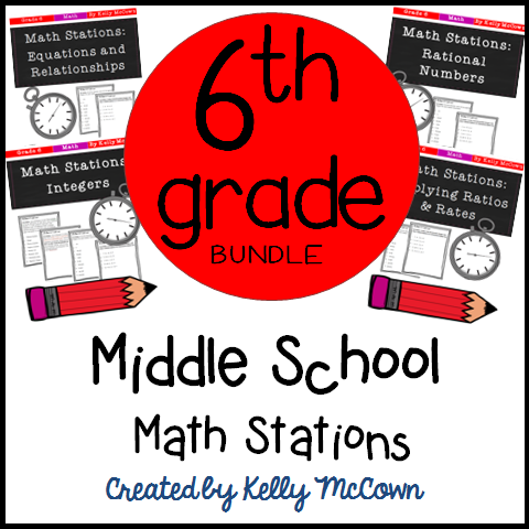 math stations for middle grades pdf