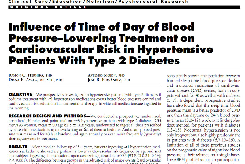 diabetes por cronoterapia
