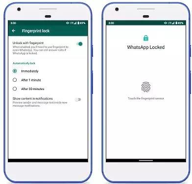 Cara mengaktifkan fitur Sidik Jari Whatsapp Android-2
