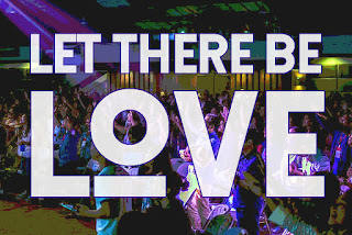 Song title Let there be Love share Among us superimposed over a crowd, similar to events where Dave Bilborough may have led worship