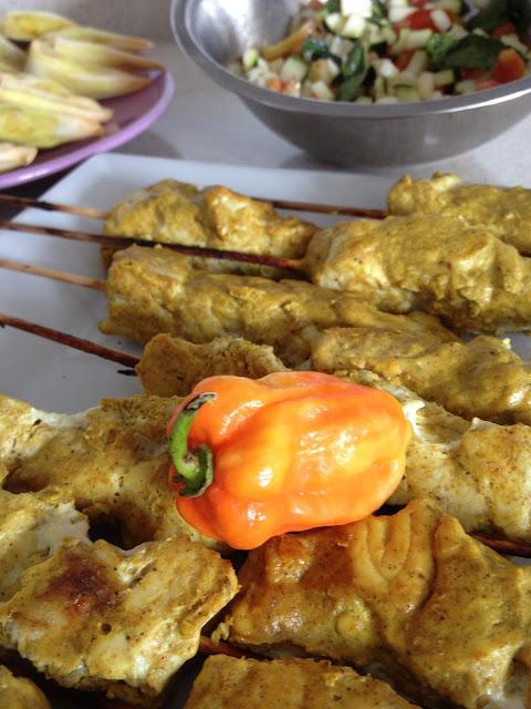 brochette poisson yaourt raz-el-hanout