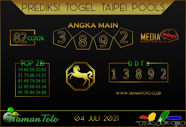 Prediksi Togel TAIPEI TAMAN TOTO 04 JULI 2021