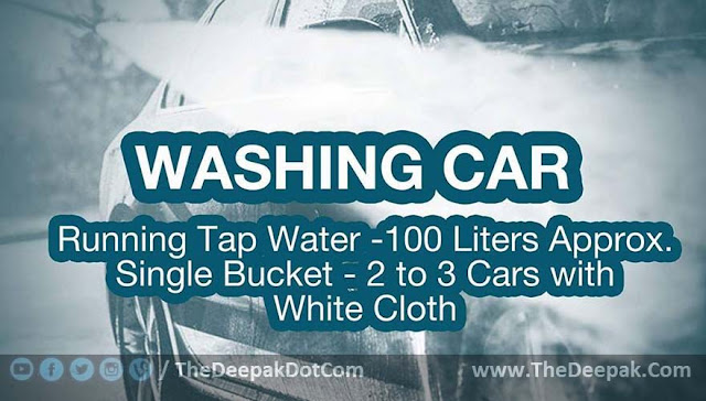 Water Saving Suggestion - While Car Washing