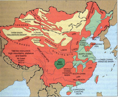 Map Of Asia Landforms.Visit Free Maps Of The World The Physical Map Of China Indicating