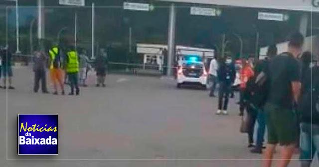Assalto em deposito de supermercado, termina após perseguição com troca de tiros na Baixada