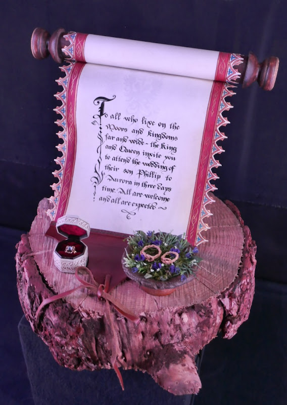 Maleficent Mistress of Evil Wedding invitation scroll rings