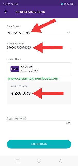 OVO Transfer Ke Bank Permata