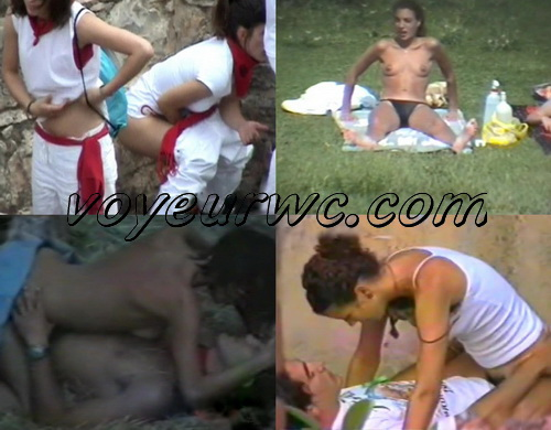 City Park Lovers - Public Voyeur Sex. Hundreds spanish girls caught peeing in public (The Galician Day 06-07)