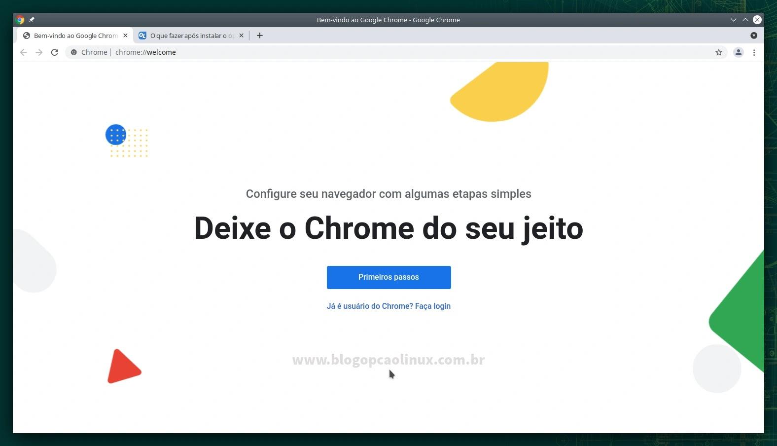 Google Chrome executando no openSUSE Leap 15.3