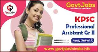 KPSC Professional Assistant Gr II