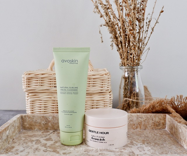 Gentle Hour Call It A Day Cleansing Balm & Avoskin Natural Sublime Facial Cleanser