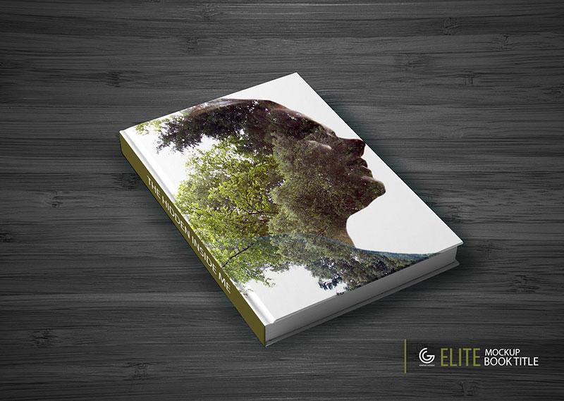Elite Book Title Mockup PSD