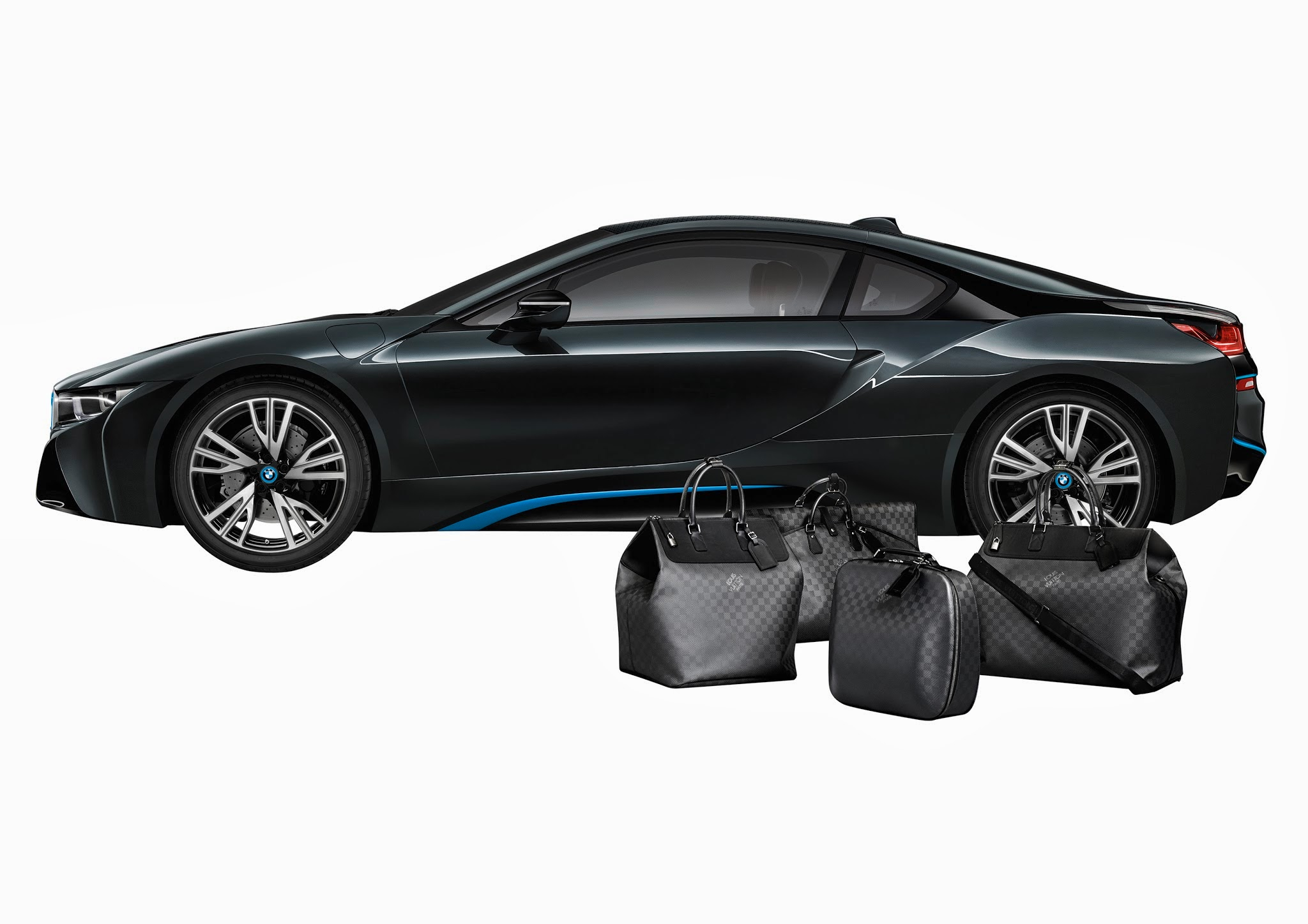 Louis Vuitton Tailor Made Bags for BMW i8