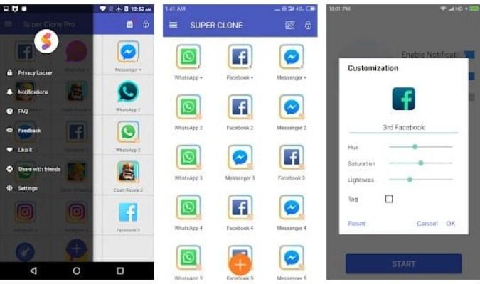 Aplikasi tuk Jalankan Dua Akun WhatsApp - Super Clone