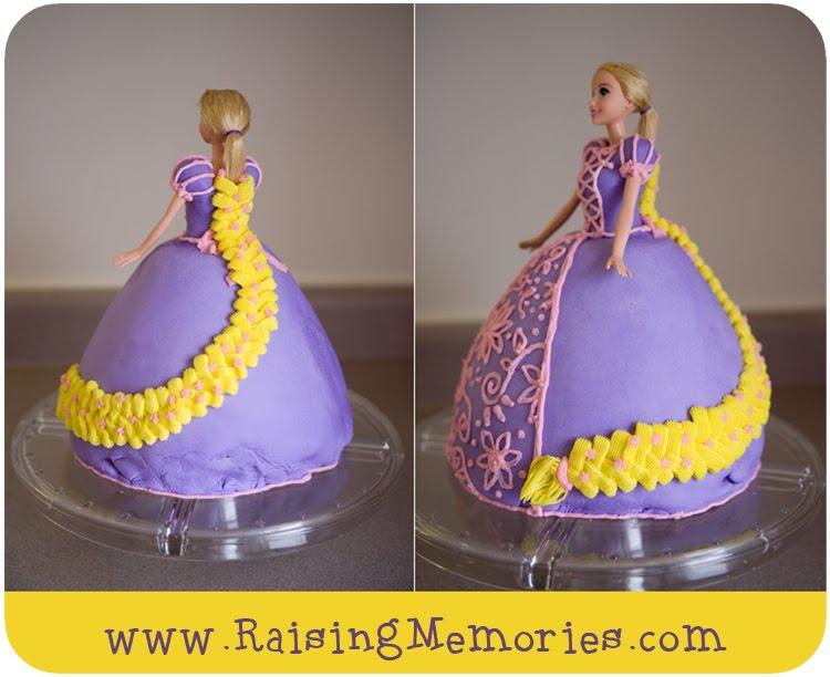 Rapunzel Barbie cake