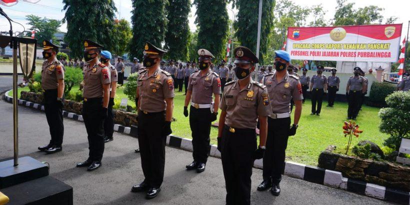 103 Personel Polres Purbalingga Naik Pangkat