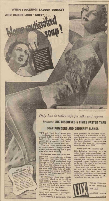 Advert for Lux Soap Flakes, 1938
