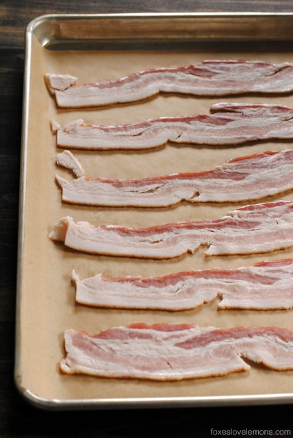 In this Culinary School Lesson, learn a two-step technique to make perfect oven bacon, every time (with no splatters of bacon grease on your stovetop!) | foxeslovelemons.com