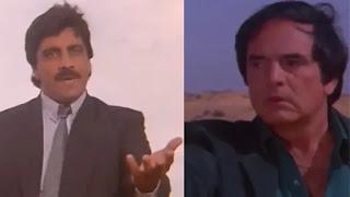 feroz khan and deep dhillon in film 'yalgaar'