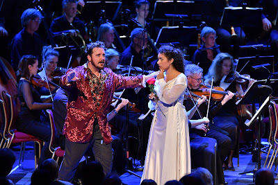 Berlioz: Benvenuto Cellini - Michael Spyres, Sophia Burgos - BBC Proms (Photo BBC / Chris Christodoulou)