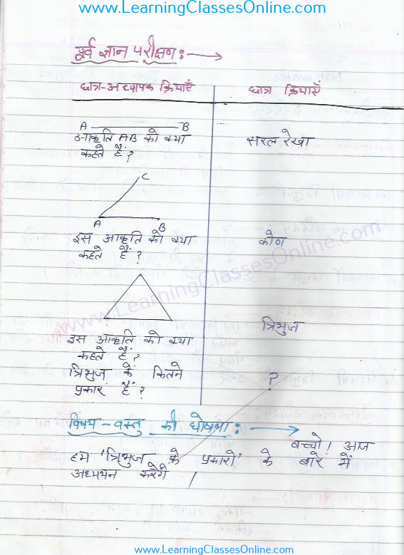 Types of triangle lesson plan mathematics in hindi free download pdf