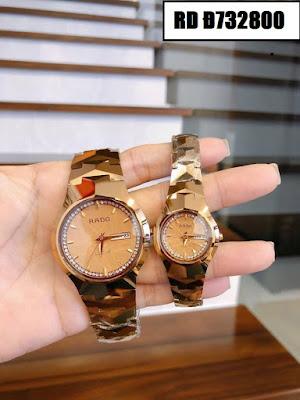 Đồng hồ cặp đôi màu vàng Rado RD Đ732800