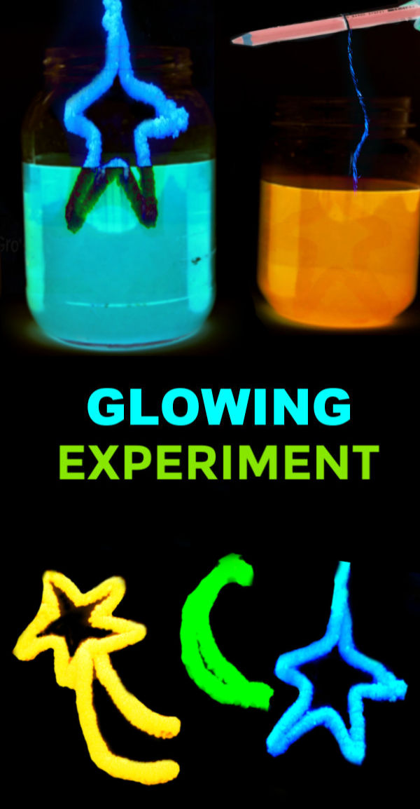Can you grow crystals using borax?  Can  you make them glow-in-the-dark?  Find out with this easy science experiment for kids! #glowingcrystals #glowingscienceexperiments #glowingcrystalsforkids #crystals #scienceexperimentskids #sciencefairprojects #scienceprojects #science #growingajeweledrose #activitiesforkids