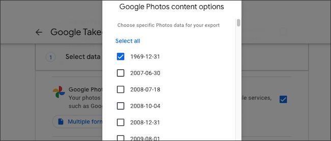 حدد ألبوم صور Google للنسخ الاحتياطي