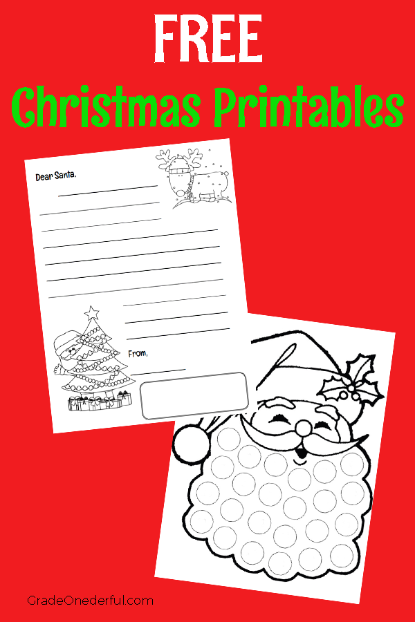 Our Advent Calendars and Our Letters to Santa. Come see what we do in our classroom and while you're there, grab some free printables. #gradeonederful #christmas #letterstoSanta #christmascountdown
