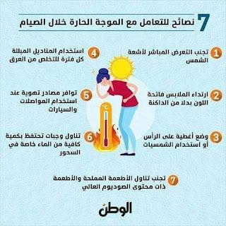 ٧ نصائح للتعامل مع الموجة الحارة خلال الصيام