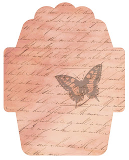 envelope digital butterfly script vintage design