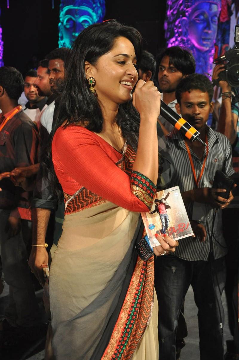 Anushka photos at mirchi audio function