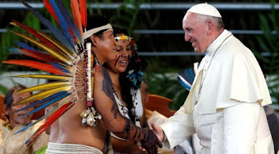 Pope and Amazonians