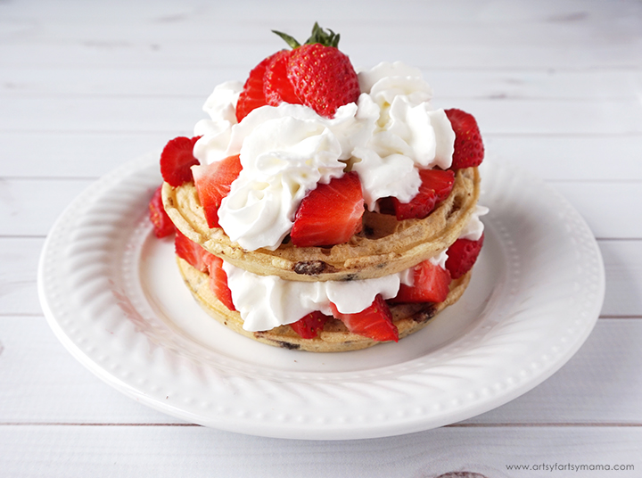 Strawberry Shortcake Waffles