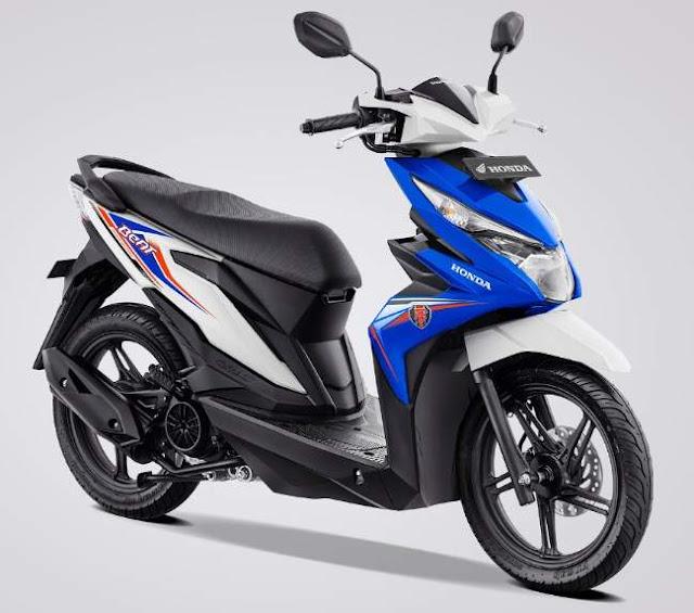 Warna Baru new Honda BeAT eSP White Blue 2019