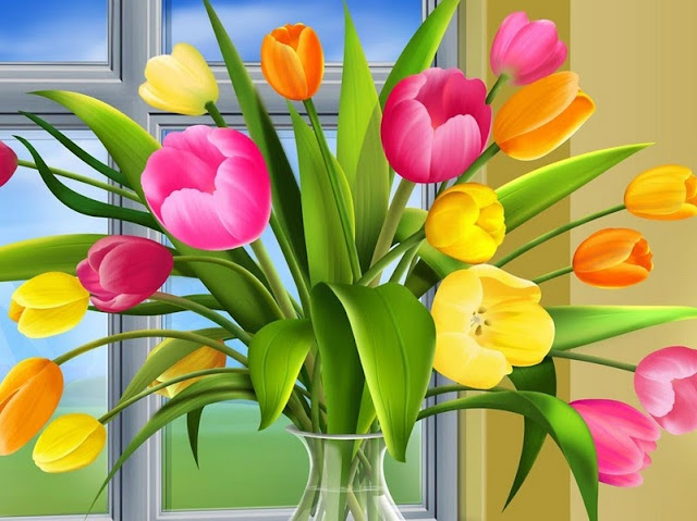 Cartoon-Tulips-Wallpaper
