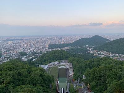 大倉山から見る日没前の風景