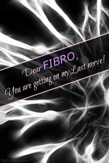 "Fibromyalgia...  It brings a whole new meaning to the phrase ""It's getting on my last nerve""!"